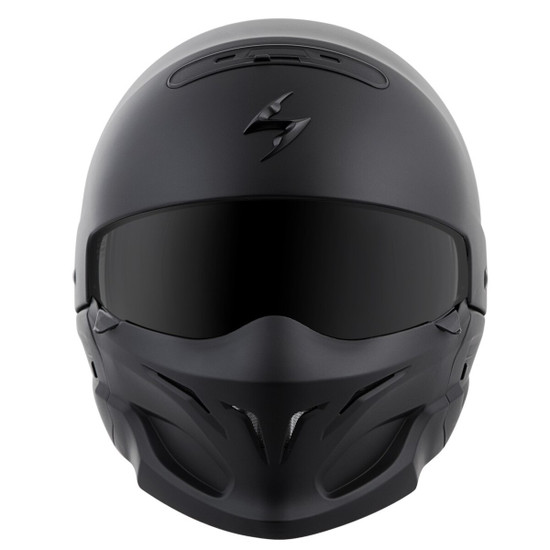 Scorpion Covert Helmet - Matte Black Front View