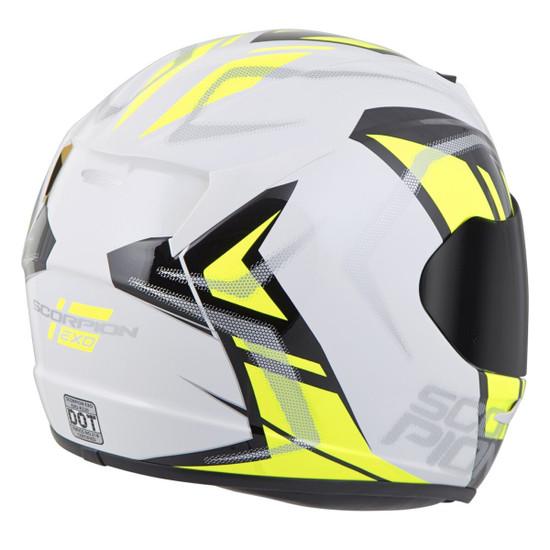 Scorpion EXO-R320 Endeavor Helmet - White/Yellow Right Side