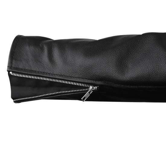 Vance VL515S Mens Conceal Carry Zip-out Insulated Liner and Side Laces Classic MC Motorcycle Biker Black Leather Jacket