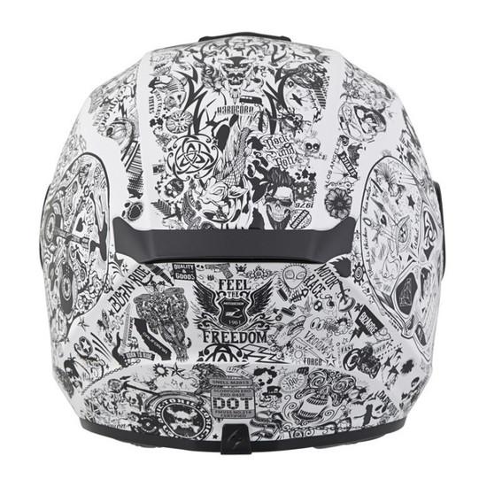Scorpion EXO-R420 Shake Helmet - White Back