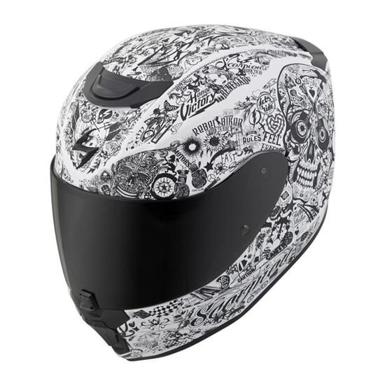 Scorpion EXO-R420 Shake Helmet - White Detail View