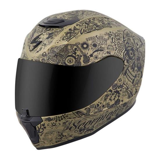 Scorpion EXO-R420 Shake Helmet - Gold