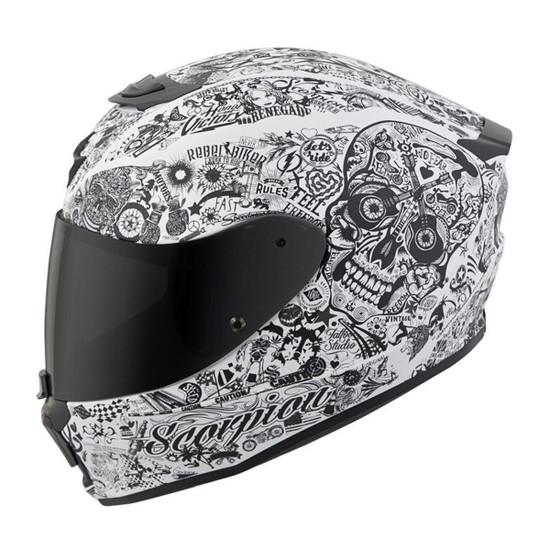 Scorpion EXO-R420 Shake Helmet - White Left