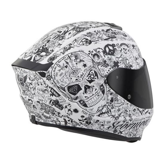 Scorpion EXO-R420 Shake Helmet - White Right