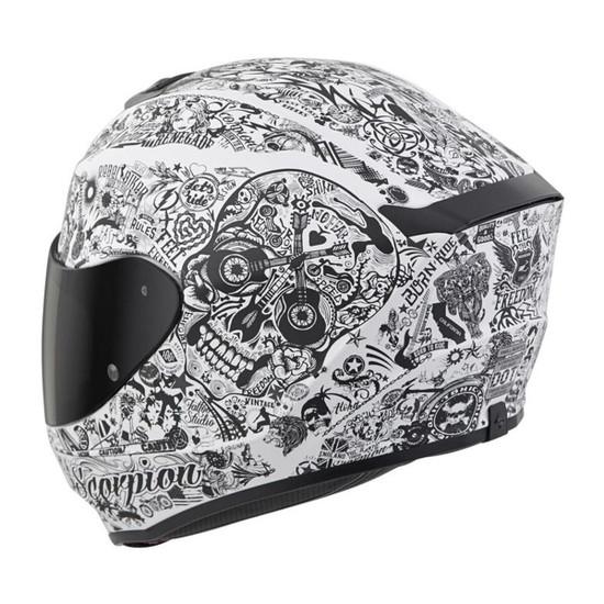 Scorpion EXO-R420 Shake Helmet - White Detail View 1
