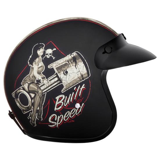 Daytona Cruiser Built For Speed Helmet-Right