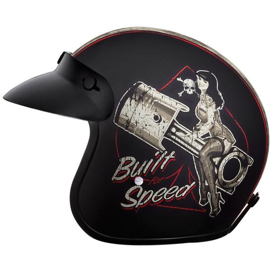 Daytona Cruiser Built For Speed Helmet-Left
