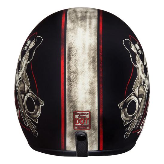 Daytona Cruiser Built For Speed Helmet-Back