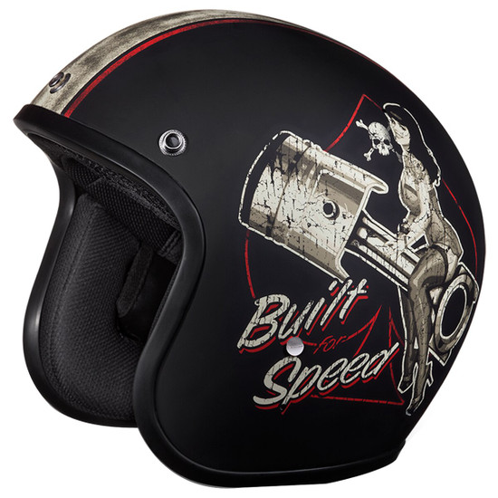 Daytona Cruiser Built For Speed Helmet-Detail