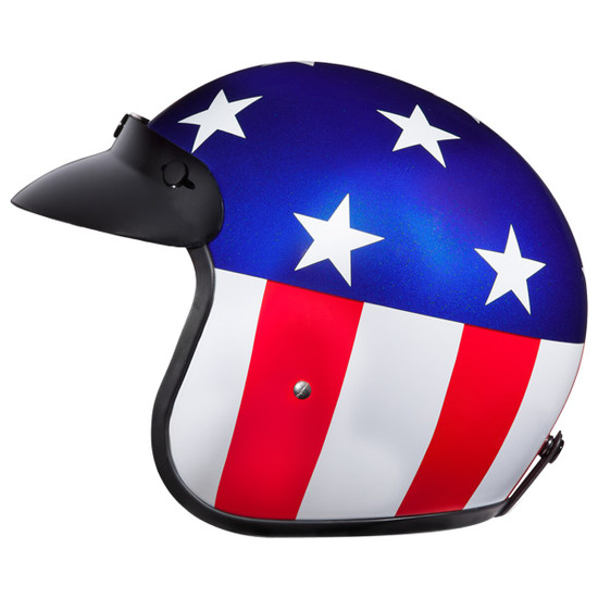 Daytona Cruiser Captain America Helmet - Left