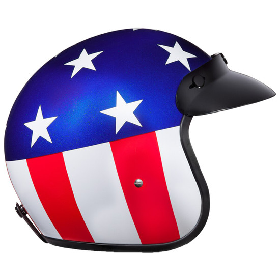 Daytona Cruiser Captain America Helmet - Right