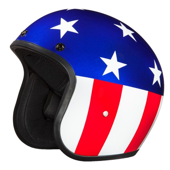 Daytona Cruiser Captain America Helmet - Detail