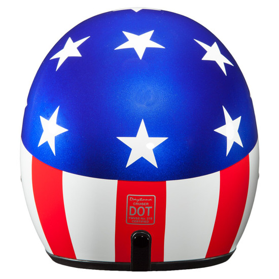 Daytona Cruiser Captain America Helmet - Back