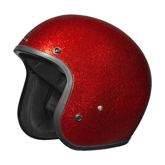 Daytona Cruiser Metal Flake Helmet - Red