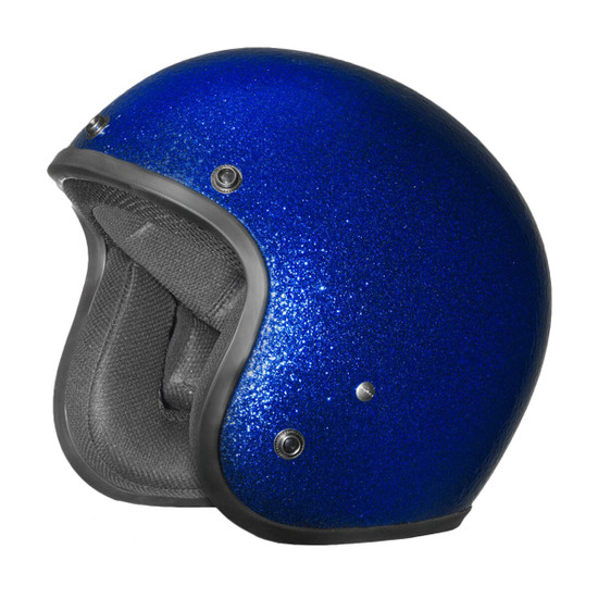 Daytona Cruiser Metal Flake Helmet - Blue