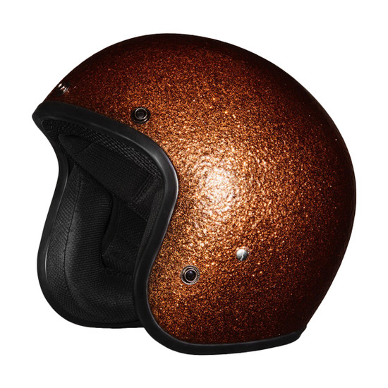 Daytona Cruiser Metal Flake Helmet - Brown