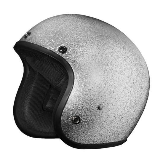 Daytona Cruiser Metal Flake Helmet - Silver