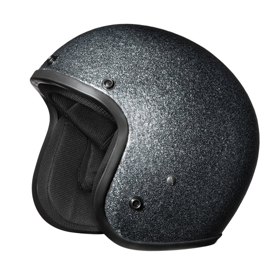 Daytona Cruiser Metal Flake Helmet - Gun Metal