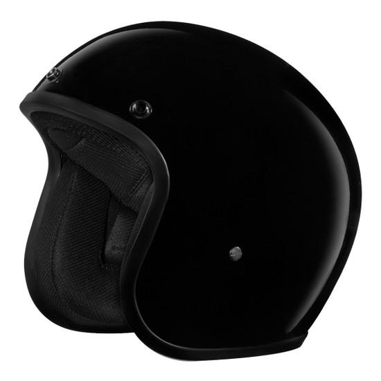 Daytona Cruiser Open Face Helmet - Gloss Black