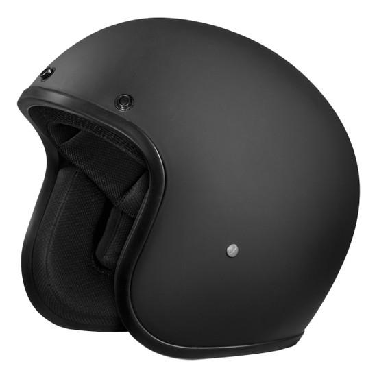 Daytona Cruiser Open Face Helmet - Flat Black