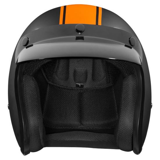 Daytona Cruiser Pin Stripe Helmet - Front