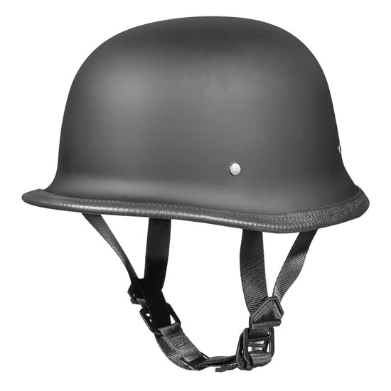 Daytona German Half Helmet - Flat Black