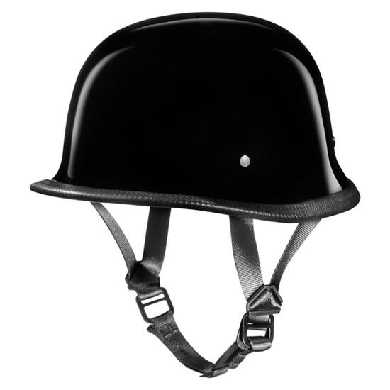 Daytona German Half Helmet - Gloss Black