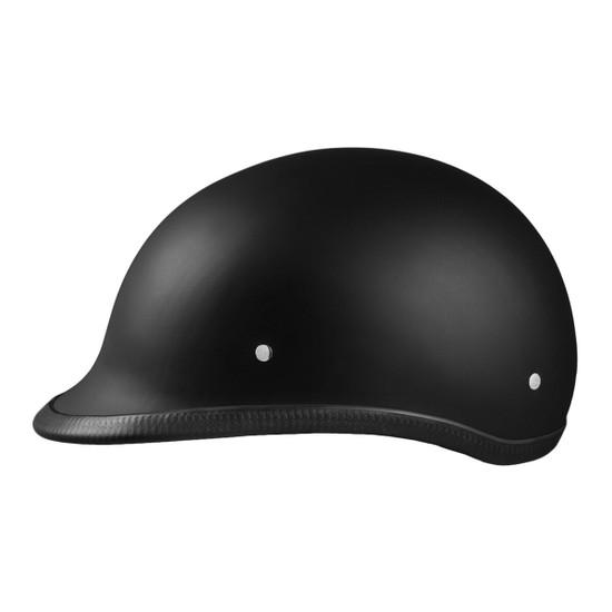Daytona Polo Half Helmet - Flat Black Left View