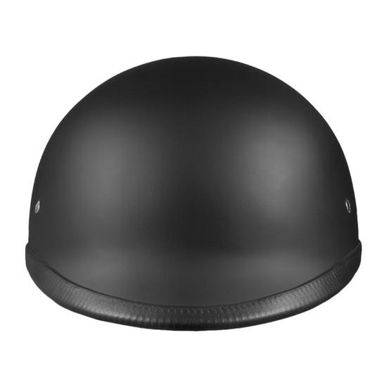 Daytona Polo Half Helmet - Flat Black Front View