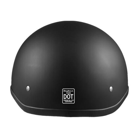 Daytona Polo Half Helmet - Flat Black Back View
