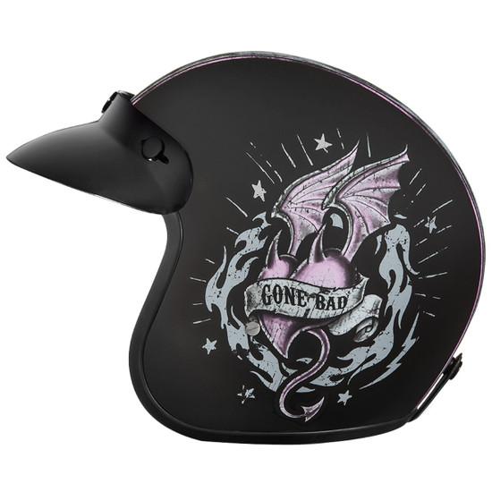 Daytona Women's Cruiser Gone Bad Helmet - Left Side view