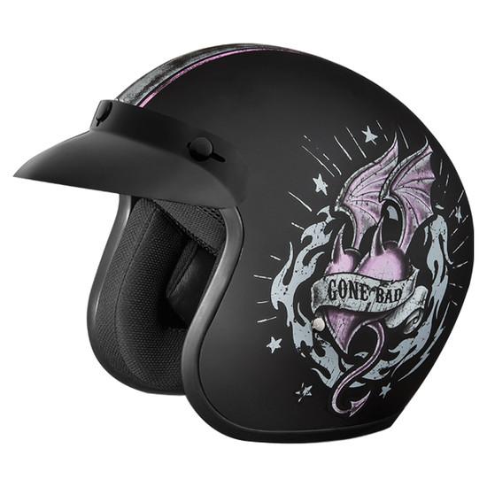 Daytona Women's Cruiser Gone Bad Helmet - Side View