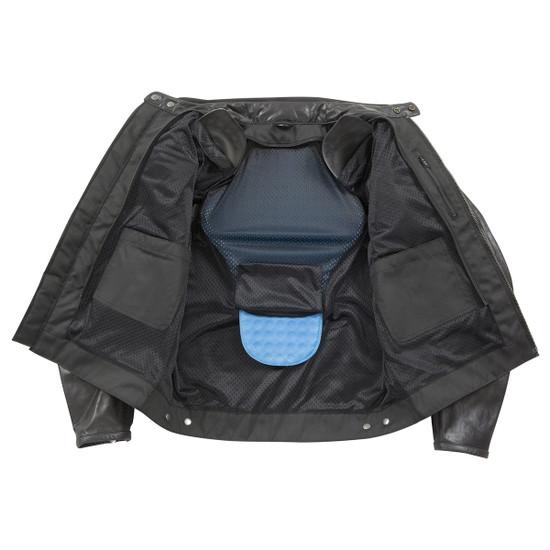 Joe Rocket Powershift Mens Leather Motorcycle Jacket - Inner View