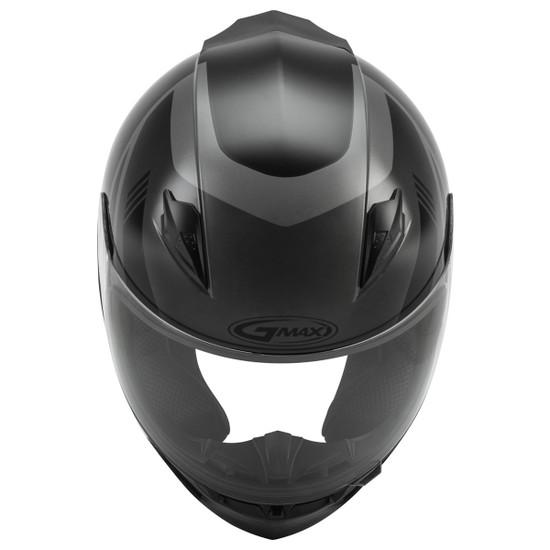GMax FF-49 Deflect Helmet - Black/Grey Top View