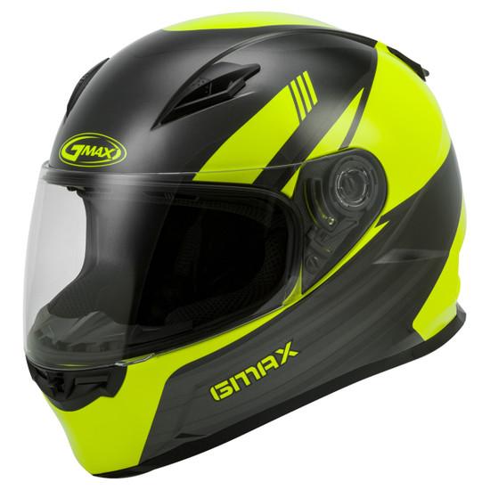 GMax FF-49 Deflect Helmet - Black/Hi-Viz