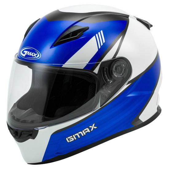 GMax FF-49 Deflect Helmet - White/Blue
