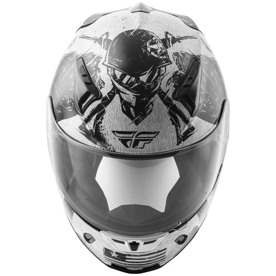 Fly Revolt FS Liberator Helmet - White/Black Top View
