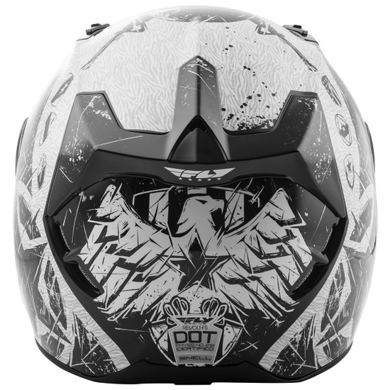 Fly Revolt FS Liberator Helmet - White/Black Back View