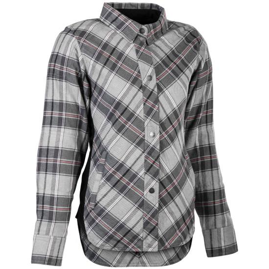 Highway 21 Women's Rogue Flannel Shirt - Grey