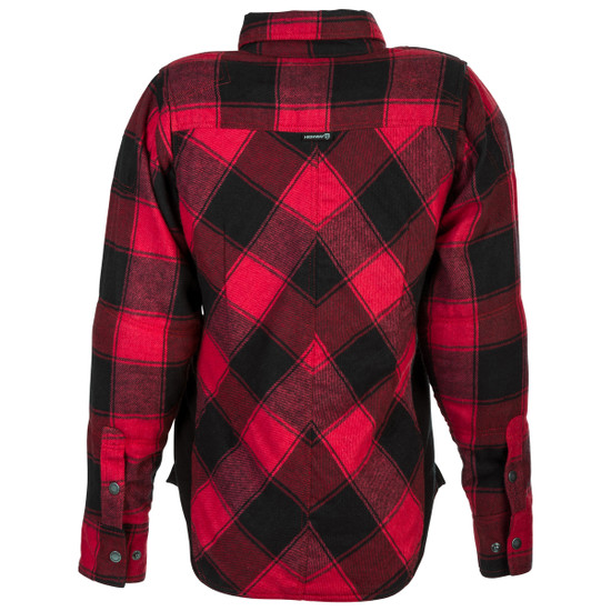 Highway 21 Women's Rogue Flannel Shirt - Red/Black Back View
