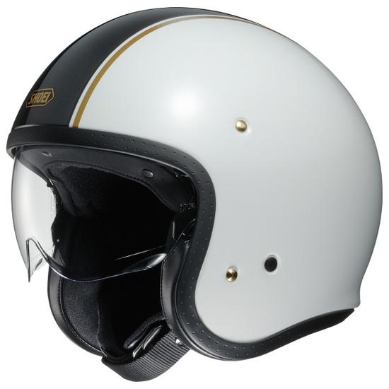 Shoei J·O Carburetor Helmet - White/Black
