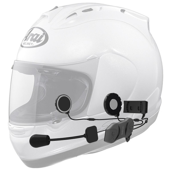 Sena 10R Bluetooth Headset Without Remote Dual Pack - Helmet View