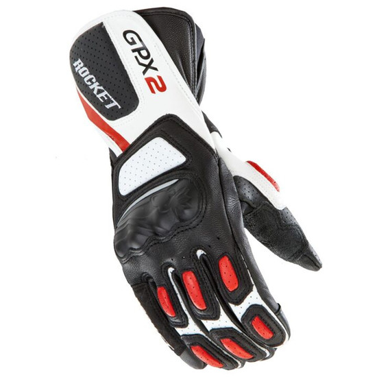 Joe Rocket GPX 2.0 Mens Leather Motorcycle Gloves - Black/Red