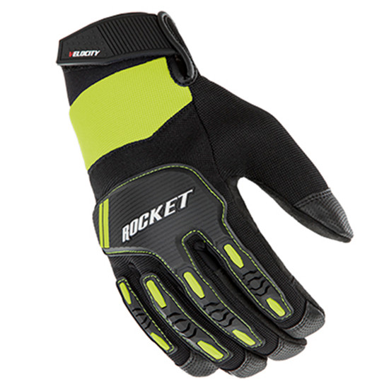 Joe Rocket Velocity 3.0 Mens Textile Motorcycle Gloves - Black/Hi-Viz