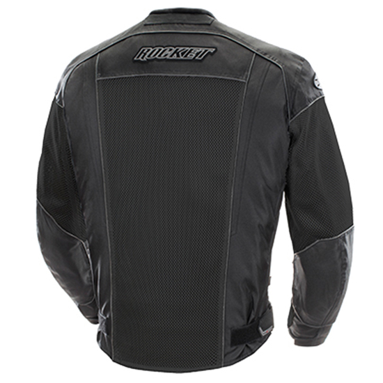 Joe Rocket Phoenix 6.0 Mens Mesh Motorcycle Jacket - Black Back View