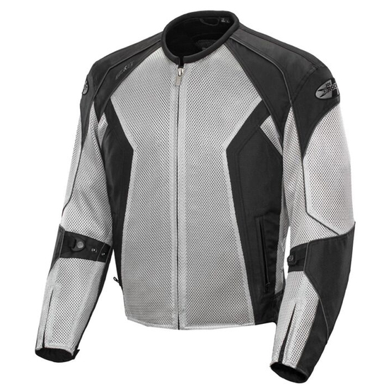Joe Rocket Phoenix 6.0 Mens Mesh Motorcycle Jacket - Black/Silver