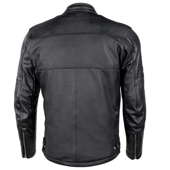 Cortech Relic Mens Motorcycle Leather Jacket - Back View