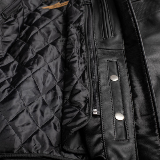 Cortech Relic Mens Motorcycle Leather Jacket - Detail View