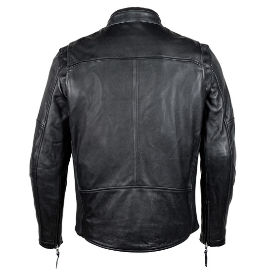 Cortech Idol Mens Motorcycle Leather Jacket - Black Back View