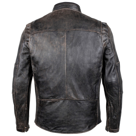 Cortech Idol Mens Motorcycle Leather Jacket - Brown Back View